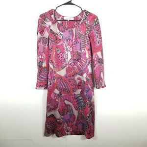 Gerard Darel  Long Sleeves Multicolor Silk Dress